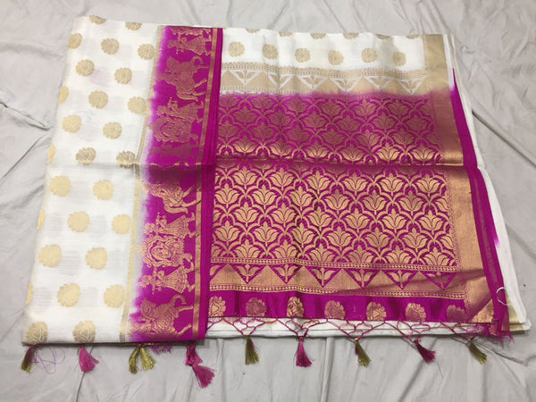 Golden Floral Paithani Silk Saree Design PS214