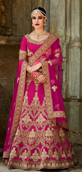 Gorgeous Cream Fine Embroidered Bridal Lehenga