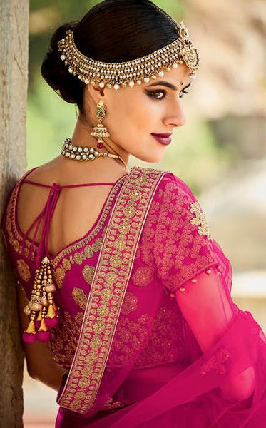 Gorgeous Golden Fine Embroidered Bridal Lehenga