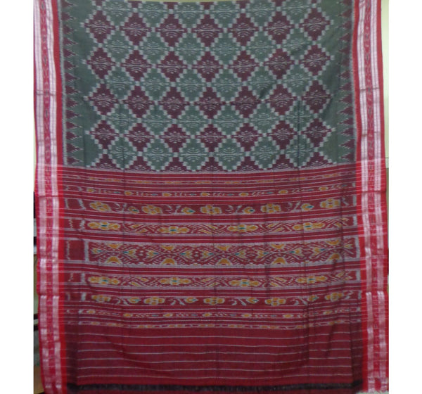 Gray Alpana Designed Handloom Cotton Saree