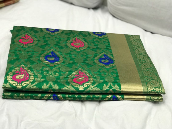Green Kanchipuram Silk Saree-SRE-548