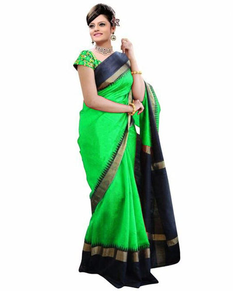 Green and Black Bhagalpuri Saree-SRE-801