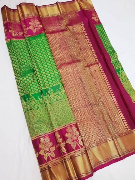 Green and Magenta Kanchipuram Silk Saree KRSS 003