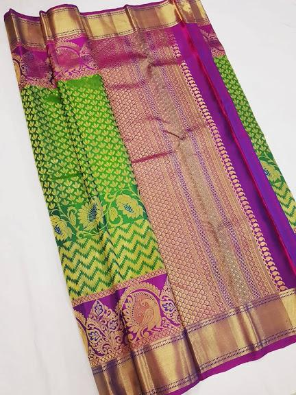 Green and Purple Kanchipuram Silk Saree KRSS 007