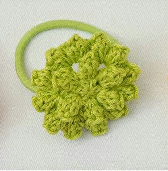 Green color Floral Crochet Hair Band
