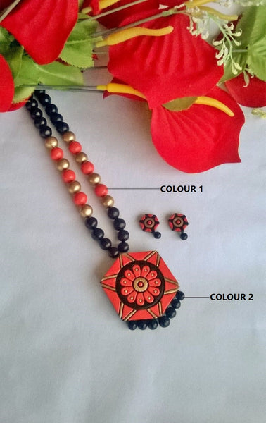 Hexagon Terracotta Jewellery Set