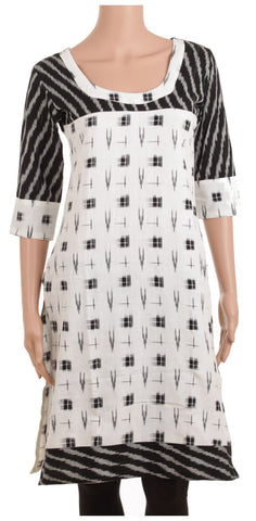 Classic Black and White Empire Cut kurti