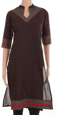 Black Collared Kurti