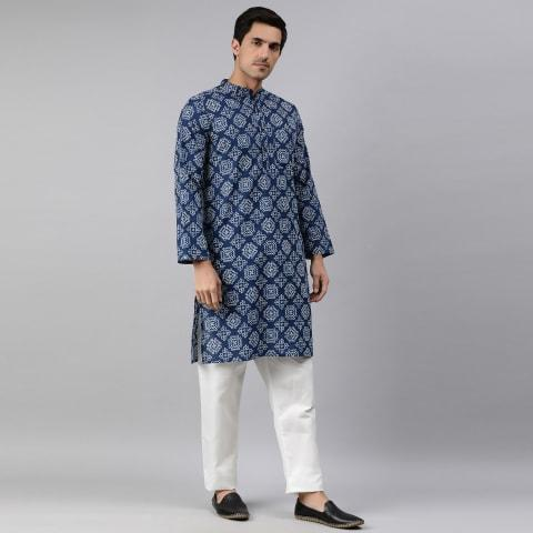 Men's Kurta Ink Blue