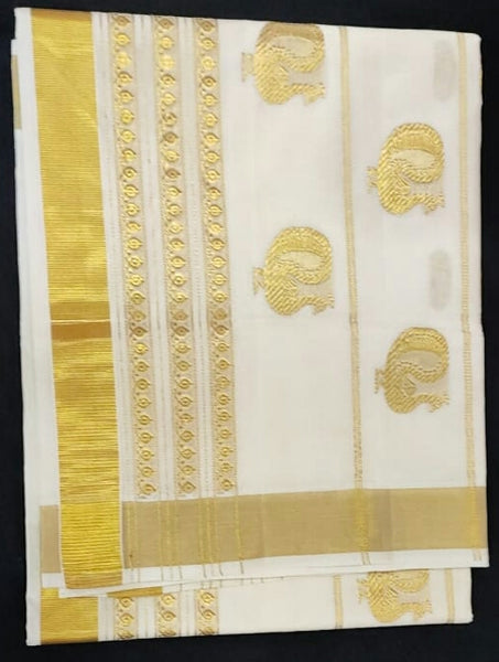 Kerala Pure Cotton Saree_KCS001