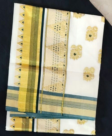 Kerala Pure Cotton Saree_KCS004