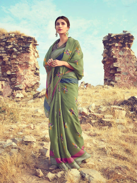 Fashionous_Linen_ saree