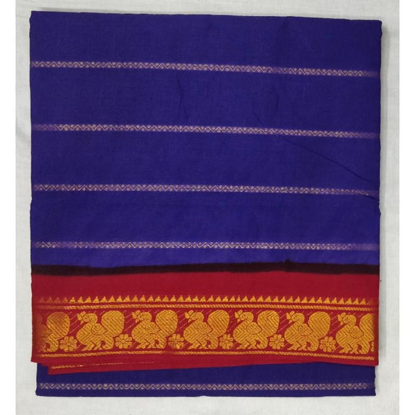 Admiral Amaze Madurai Sungudi Saree-MSS010 dark blue colour light weight saree