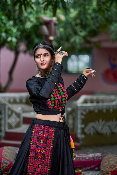 Misty Black Lehenga Choli