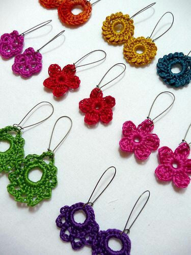 Colorful Floral Crochet Hair Bands