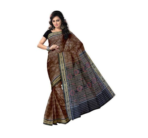Mustard Traditional Designed Handloom Cotton Saree-OSS7460