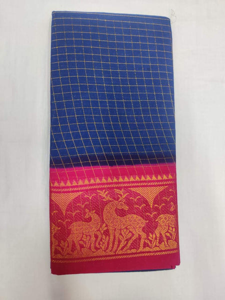 Madurai Sungudi Sarees with Double side Jari Border MSS 005