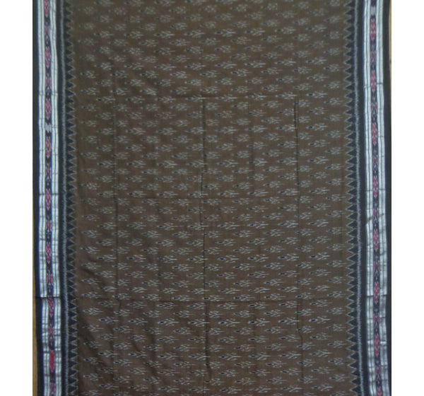 Olive Green with Black Pallu Handwoven Cotton Saree