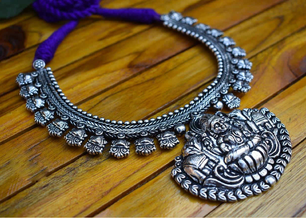 Oxidized Temple Necklace-OTN006