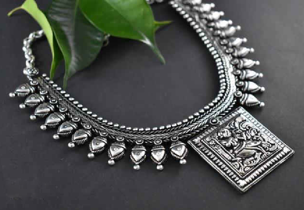 Oxidized Temple Necklace-OTN008