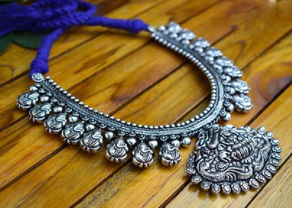 Oxidized Temple Necklace-OTN021