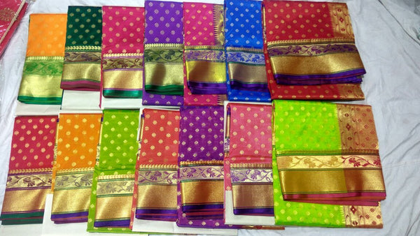 Purple with Peacock Designed Golden Pallu Paithani Saree