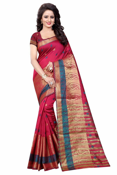 Pink with Mango Designed Pallu Banarasi Saree-SRE-987