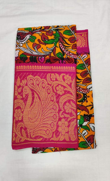 Pretty Pink Printed Madurai Sungudi Saree