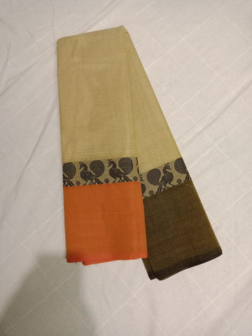Pure Handwoven Chettinad Cotton Saree Design-CHEDS023