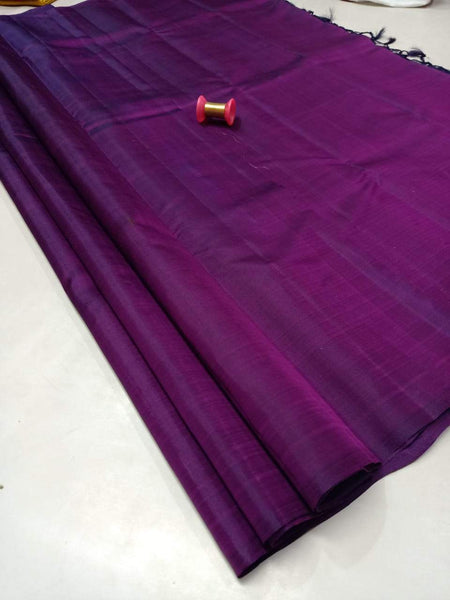 Purple Pure Silk Saree