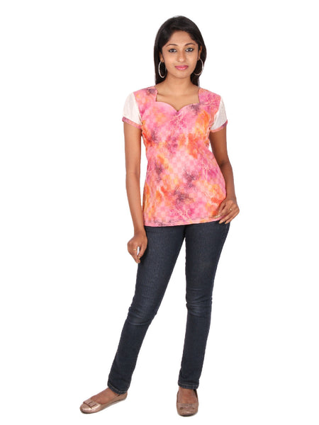 Mutli colored Digital printed Cotton Short Tops