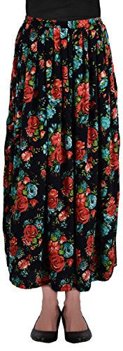 Rampwaq Women's Crepe Skirt (Black)