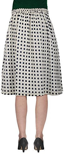 Rampwaq Women's Georgette Skirt (White)
