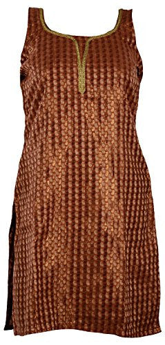 Rampwaq Women's Brown Cotton Kurta