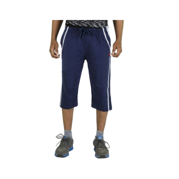 Rampwaq Solid Navy Blue Three Fourth