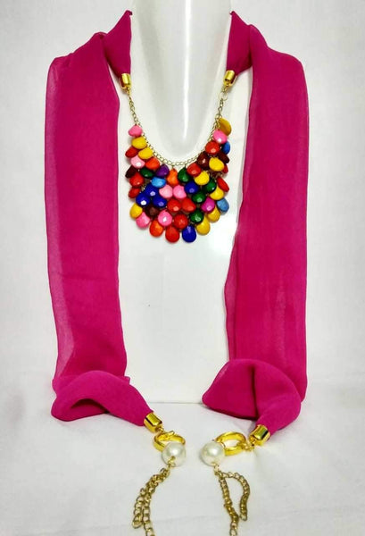 Scarf Necklace-SN069