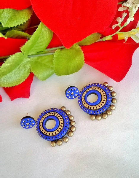 Serene Blue Terracotta Earrings