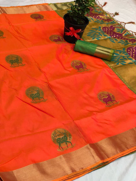 Soft Silk Saree-SSSRE039
