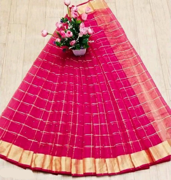 Strawberry Kota Saree