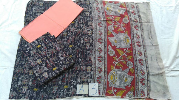 Unstitched Kalamkari Dress Material-004