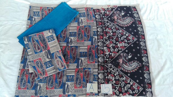 Unstitched Kalamkari Dress Material-008
