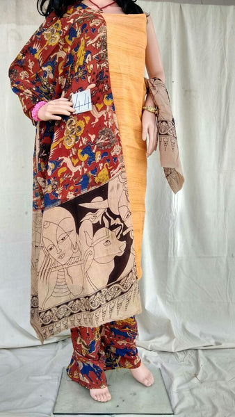 Unstitched Kalamkari Dress Material-016