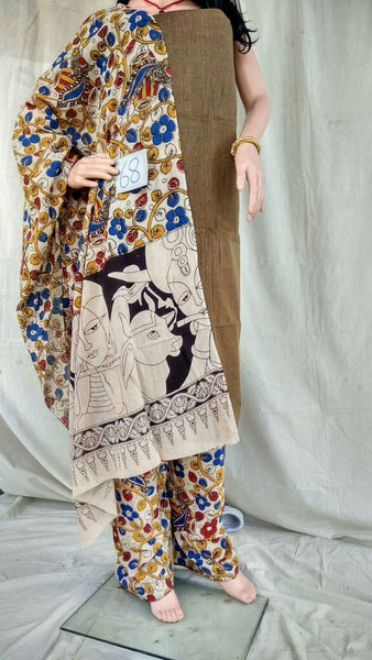 Unstitched Kalamkari Dress Material-017