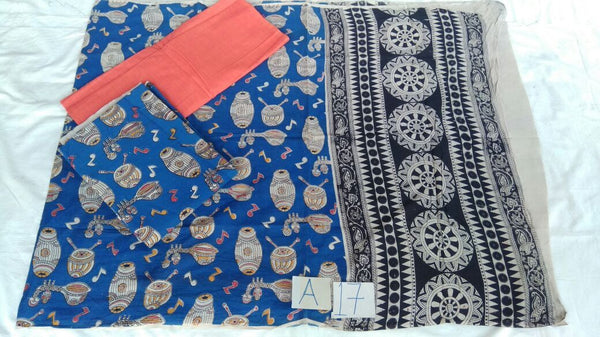 Unstitched Kalamkari Dress Material-021