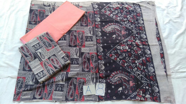 Unstitched Kalamkari Dress Material-023