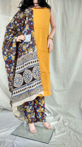 Unstitched Kalamkari Dress Material-024