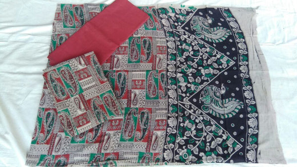 Unstitched Kalamkari Dress Material-041
