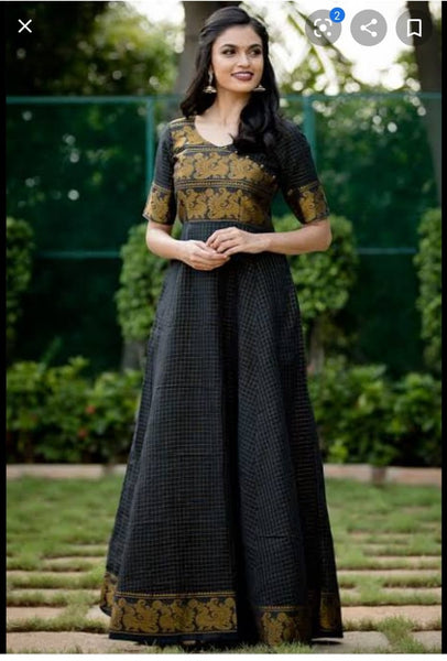Kurti Stitching - Anarkali with 3/4 sleeves