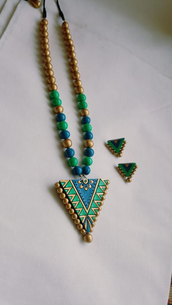 Blue and Green Terracotta Set
