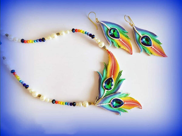 Multicolor Feather Polymer Set